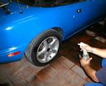 limpieza llantas del vehiculo