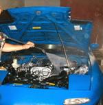 limpieza zona motor