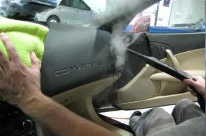 limpieza de coches con vapor
